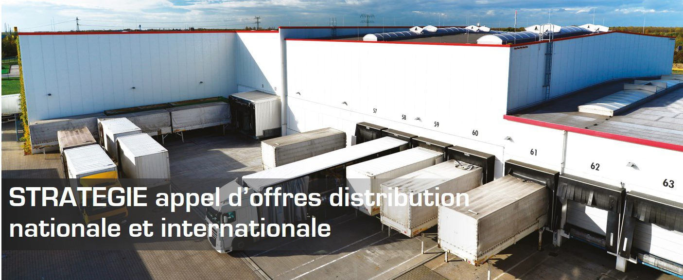 STRATÉGIE appel d'offres distribution nationale et internationale